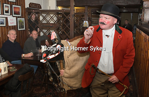 Antrobus Soul Caking Play. Antrobus Cheshire Uk. The Hobby Horse and Trevor Collins 2012.