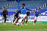 Ellis Harrison of Portsmouth scores from the penalty spot to make the score 2-1 to Portsmouth during Portsmouth vs MK Dons, Sky Bet EFL League 1 Football at Fratton Park on 10th October 2020