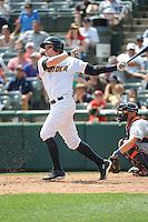 Trenton Thunder catcher Peter O'Brien (36) during game against the Binghamton Mets at ARM & HAMMER Park on July 27, 2014 in Trenton, NJ.  Trenton defeated Binghamton 7-3.  (Tomasso DeRosa/Four Seam Images)