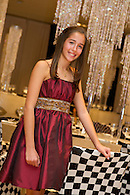 The Bat Mitzvah girl in her party dress.