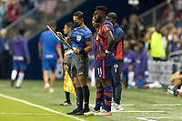 KANSAS CITY, KS - JULY 11: Daryl Dike # 11 of the United States during a game between Haiti and USMNT at Children's Mercy Park on July 11, 2021 in Kansas City, Kansas.