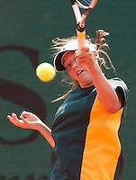 Tenis, World Championship U-14.Australia Vs. Russia.Isabella Beischer Vs. Ulyana Ayzatulina.Isabella Beischer, returnes.Prostejov, 02.08.2010..foto: Srdjan Stevanovic/Starsportphoto ©