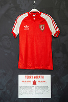 Terry Yoraths' 1980/84 Wales home shirt is displayed at The Art of the Wales Shirt Exhibition at St Fagans National Museum of History in Cardiff, Wales, UK. Monday 11 November 2019