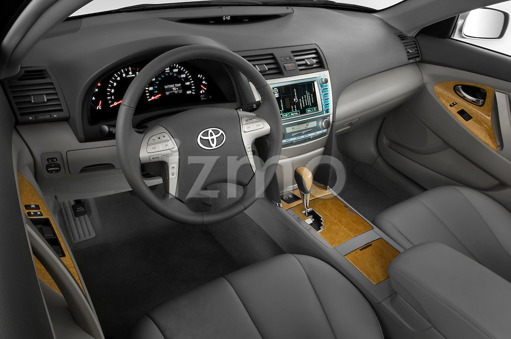 High angle dashboard view of a 2008 Toyota Camry XLE