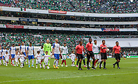 Mexico City, Mexico - Sunday June 11, 2017: Geoff Cameron, Omar Gonzalez, Bobby Wood, Brad Guzan, Michael Bradley and USMNT during a 2018 FIFA World Cup Qualifying Final Round match with both men's national teams of the United States (USA) and Mexico (MEX) playing to a 1-1 draw at Azteca Stadium.