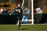 North Carolina Tar Heels goalkeeper Ashlyn Harris (18). The North Carolina Tar Heels defeated the Notre Dame Fighting Irish 2-1 during the finals of the NCAA Women's College Cup at Wakemed Soccer Park in Cary, NC, on December 7, 2008. Photo by Howard C. Smith/isiphotos.com