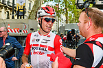 Jelle Wallays (BEL) Lotto-Soudal wins solo the 113th edition of Paris-Tours 2019, running 217km from Chartres to Tours, France. 13th October 2019.<br /> Picture: ASO/Gautier Demouveaux | Cyclefile<br /> All photos usage must carry mandatory copyright credit (© Cyclefile | ASO/Gautier Demouveaux)