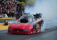 Aug. 7, 2011; Kent, WA, USA; NHRA funny car driver Gary Densham during the Northwest Nationals at Pacific Raceways. Mandatory Credit: Mark J. Rebilas-