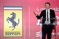 Italian prime minister Matteo Renzi <br /> Milano 04-01-2016 Borsa <br /> Esordio in borsa per la Ferrari. <br /> The company Ferrari began trading at stock exchange today <br /> foto Daniele Buffa/Image Sport/Insidefoto