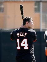Brandon Belt - San Francisco Giants 2009 Instructional League. .Photo by:  Bill Mitchell/Four Seam Images..