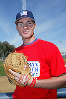 February 10 2008: Miles Reagan participates in a MLB pre draft workout for high school players at the Urban Youth Academy in Compton,CA.  Photo by Larry Goren/Four Seam Images