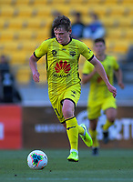 Phoenix's Callum McCowatt in action during the A-League football match between Wellington Phoenix and Central Coast Mariners at Westpac Stadium in Wellington, New Zealand on Saturday, 4 January 2020. Photo: Dave Lintott / lintottphoto.co.nz