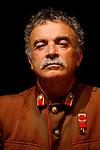 """Franco Branciaroli, fotografato durante le prove dello spettacolo teratrale: """"Processo e morte di Stalin""""<br /> Milano 12 giugno 2011"""