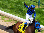 MAY 02, 2015: Private Zone, ridden by Martin A Pedroza, wins the 81st running of the Churchill Downs Steaks at Churchill Downs in Louisville, Kentucky. Ting Shen/ESW/CSM