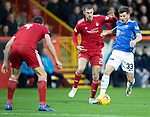 Aberdeen v St Johnstone…08.12.18…   Pittodrie    SPFL<br />Matty Kennedy runs at goal tracked by Dom Ball<br />Picture by Graeme Hart. <br />Copyright Perthshire Picture Agency<br />Tel: 01738 623350  Mobile: 07990 594431