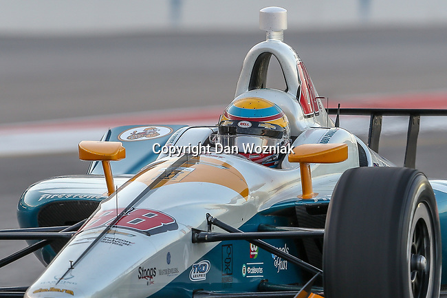 Harding Racing driver Gabby Chaves (88) of Columbiar in action during the DXC Technology 600 race at Texas Motor Speedway in Fort Worth,Texas.