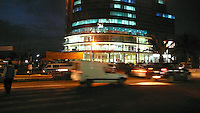 Addis Abeba, etiopia, il centro città di notte..By night.