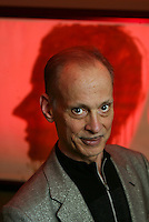 JOHN WATERS in his Greenwich Village apartment, one of three other residences he keeps outside of his Baltimore compound.  The musical CRY-BABY, based on his 1990 film of the same name opens on Broadway in April.  59 W. 12 St., NYC.  Newsday/Ari Mintz  3/27/2008.