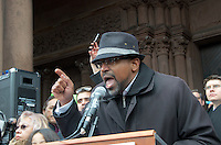 Rahsaan Hall  ACLU MA at Rally Anti Trump Muslim Ban and immigration restrictions at Copley Plaza Boston ,MA 1.29.17