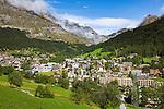Switzerland, Canton Valais, Leukerbad: wintersport resort and spa at the end of Dala Valley ] Schweiz, Kanton Wallis, Leukerbad: Wintersportort und Thermalkurort im hinteren Dalatal