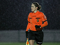 Assistant referee Caroline Lanssens pictured during a female soccer game between Oud Heverlee Leuven and RSC Anderlecht on the 12 th matchday of the 2020 - 2021 season of Belgian Womens Super League , sunday 31 st of January 2021  in Heverlee , Belgium . PHOTO SPORTPIX.BE | SPP | SEVIL OKTEM