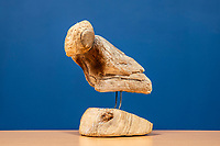 BNPS.co.uk (01202 558833)<br /> Pic: MaxWillcock/BNPS<br /> <br /> Pictured: 'Small Bird', a driftwood sculpture, created by artist Sid Bunard in 2013.<br /> <br /> Twelve eye-catching driftwood sculptures by one of Britain's most eccentric artists have emerged for sale.<br /> <br /> Brighton-born Sid Burnard uses objects washed up on beaches to fashion unusual artworks of humans and animals.<br /> <br /> They are going under the hammer with auctioneers Woolley & Wallis where they could sell for a combined £4,000.<br /> <br /> The collection includes an impressive Jabiru bird whose beak is made out of a fragment of an orange buoy.
