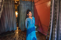 India; Maharashtra; Mumbai; Bombay; red light district. Najma is a Eunuch that works in a brothel on Falkland Road.