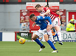 Hamilton Accies v St Johnstone….18.05.19      New Douglas Park        SPFL<br />Ross Callachan and Steve Davies<br />Picture by Graeme Hart. <br />Copyright Perthshire Picture Agency<br />Tel: 01738 623350  Mobile: 07990 594431