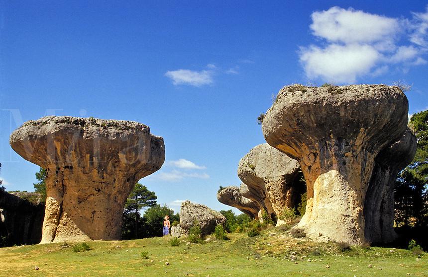 Spain. Cuenca. Castile la Mancha.  The Enchanted City.  Cuidad Encantada..
