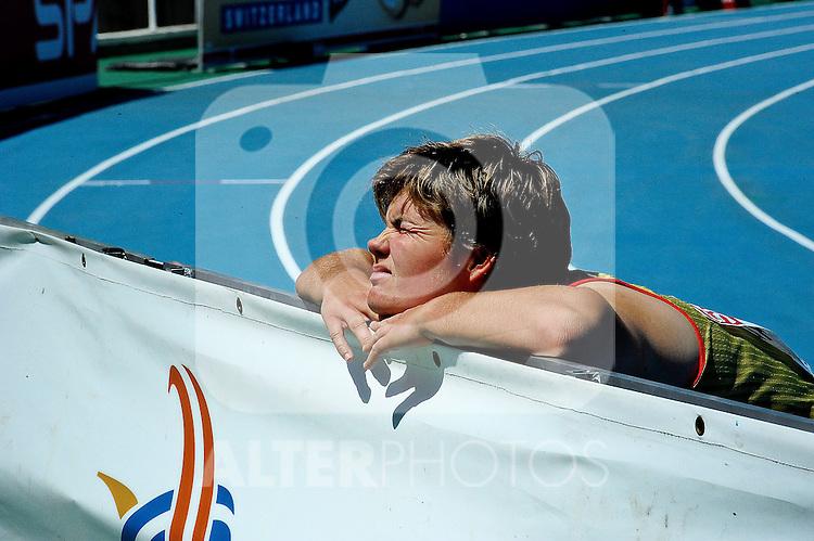 28.07.2010, Olympic Stadium, Barcelona, ESP, European Athletics Championships Barcelona 2010, im Bild Sabine Rumpf Foto: nph /  Ronald Hoogendoorn