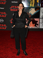 """Carrie-Anne Moss at the world premiere for """"Star Wars: The Last Jedi"""" at the Shrine Auditorium. Los Angeles, USA 09 December  2017<br /> Picture: Paul Smith/Featureflash/SilverHub 0208 004 5359 sales@silverhubmedia.com"""
