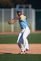 MJ Williams during the Under Armour All-America Tournament powered by Baseball Factory on January 19, 2020 at Sloan Park in Mesa, Arizona.  (Zachary Lucy/Four Seam Images)