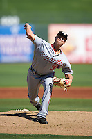 Glendale Desert Dogs pitcher Austin Voth (31), of the Washington Nationals organization, during a game against the Surprise Saguaros on October 22, 2016 at Surprise Stadium in Surprise, Arizona.  Surprise defeated Glendale 10-8.  (Mike Janes/Four Seam Images)