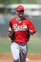 Cincinnati Reds minor league outfielder Jesse Winker #23 during an instructional league game against the Milwaukee Brewers at Maryvale Baseball Park on October 3, 2012 in Phoenix, Arizona.  (Mike Janes/Four Seam Images)