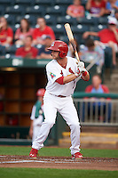 Springfield Cardinals second baseman Bruce Caldwell (7) during a game against the Frisco RoughRiders  on June 3, 2015 at Hammons Field in Springfield, Missouri.  Springfield defeated Frisco 7-2.  (Mike Janes/Four Seam Images)