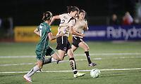 Christine Sinclair #12 advances on Athletica goal..Saint Louis Athletica defeated FC Gold Pride 1-0 at Ralph Korte Stadium, Edwardsville, Illinois.
