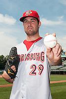 Harrisburg Senators pitcher Robbie Ray (29) during game against the Trenton Thunder at  ARM & HAMMER Park on July 31, 2013 in Trenton, NJ.  Harrisburg defeated Trenton 5-3.  (Tomasso DeRosa/Four Seam Images)
