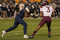 Pitt defensive back Jordan Whitehead. The Virginia Tech Hokies defeated the Pitt Panthers 39-36 on October 27, 2016 at Heinz Field in Pittsburgh, Pennsylvania.