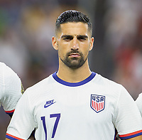 DALLAS, TX - JULY 25: Sebastian Lletget #17 of the United States during a game between Jamaica and USMNT at AT&T Stadium on July 25, 2021 in Dallas, Texas.