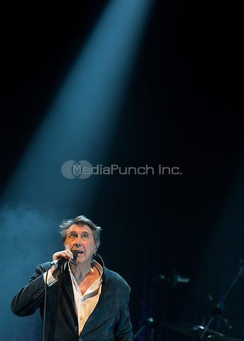 English singer-songwriter Bryan Ferry is pictured as he performs on stage at The Palladium in London. Credit: Matrix/MediaPunch ***FOR USA ONLY***<br /> <br /> REF: SMO 181355