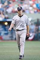 July 15, 2009: Louisville Bats right-handed pitcher Justin Lehr during the 2009 Triple-A All-Star Game at PGE Park in Portland, Oregon.