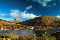 Ben Lomond, Arrochar, Ben Reoch and Loch Long from Argyll Forest Park, Loch Lomond and the Trossachs National Park, Argyll & Bute