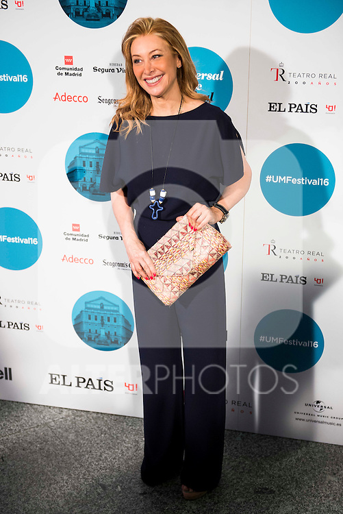 Teresa Viejo attends to the photocall of the Rod Stewart concert at Teatro Real in Madrid. July 05. 2016. (ALTERPHOTOS/Borja B.Hojas)