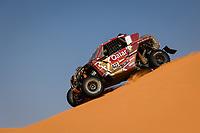5th January 2021; Dakar Rally stage 3; 422 Al Attiyah Nasser Khalifa (qat), Ceci Paolo (ita), Can-Am, South Racing Can-Am, Motul, SSV Series - T4, action during the 3rd stage of the Dakar 2021 between Wadi Al Dawasir and Wadi Al Dawasir, in Saudi Arabia on January 5, 2021