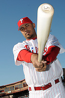 Feb 20, 2009; Clearwater, FL, USA; The Philadelphia Phillies catcher Ronny Paulino (23) during photoday at Bright House Field. Mandatory Credit: Tomasso De Rosa/ Four Seam Images