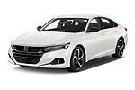 2021 Honda Accord-Sedan Sport-SE 4 Door Sedan Angular Front automotive stock photos of front three quarter view