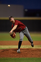 AZL D-backs relief pitcher Brock Jones (27) during an Arizona League game against the AZL Mariners on August 7, 2019 at Peoria Sports Complex in Peoria, Arizona. AZL D-backs defeated the AZL Mariners 4-1. (Zachary Lucy/Four Seam Images)
