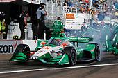 #88 Colton Herta, Andretti Harding Steinbrenner Autosport Honda, pit stop