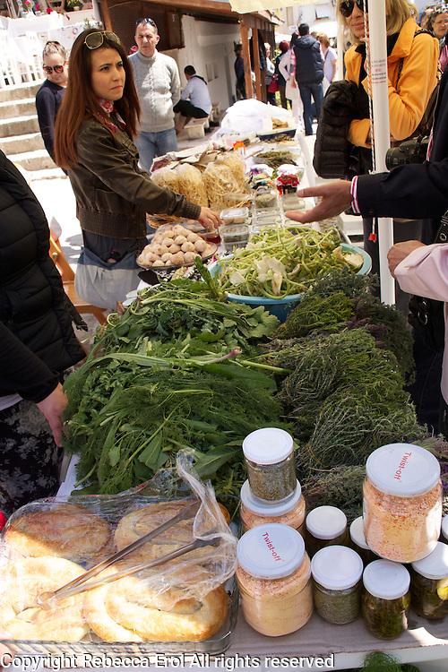 Alacati, Turkey: the Ot Festivali or Herb Festival held in spring every year