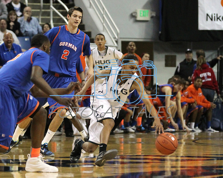 Competition in the NIAA 4A State Basketball Championship game between Bishop Gorman and Hug high schools at Lawlor Events Center, in Reno, Nev, on Friday, Feb. 24, 2012. .Photo by Cathleen Allison